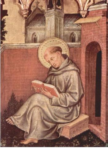 Saint Thomas d'Aquin, par Gentile da Fabriano, Milan, pinacothèque de Brera