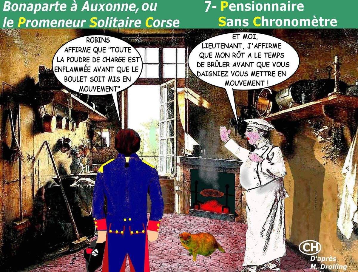 Bonaparte à Auxonne, PSC n° 7  Pensionnaire  Sans Chronomètre