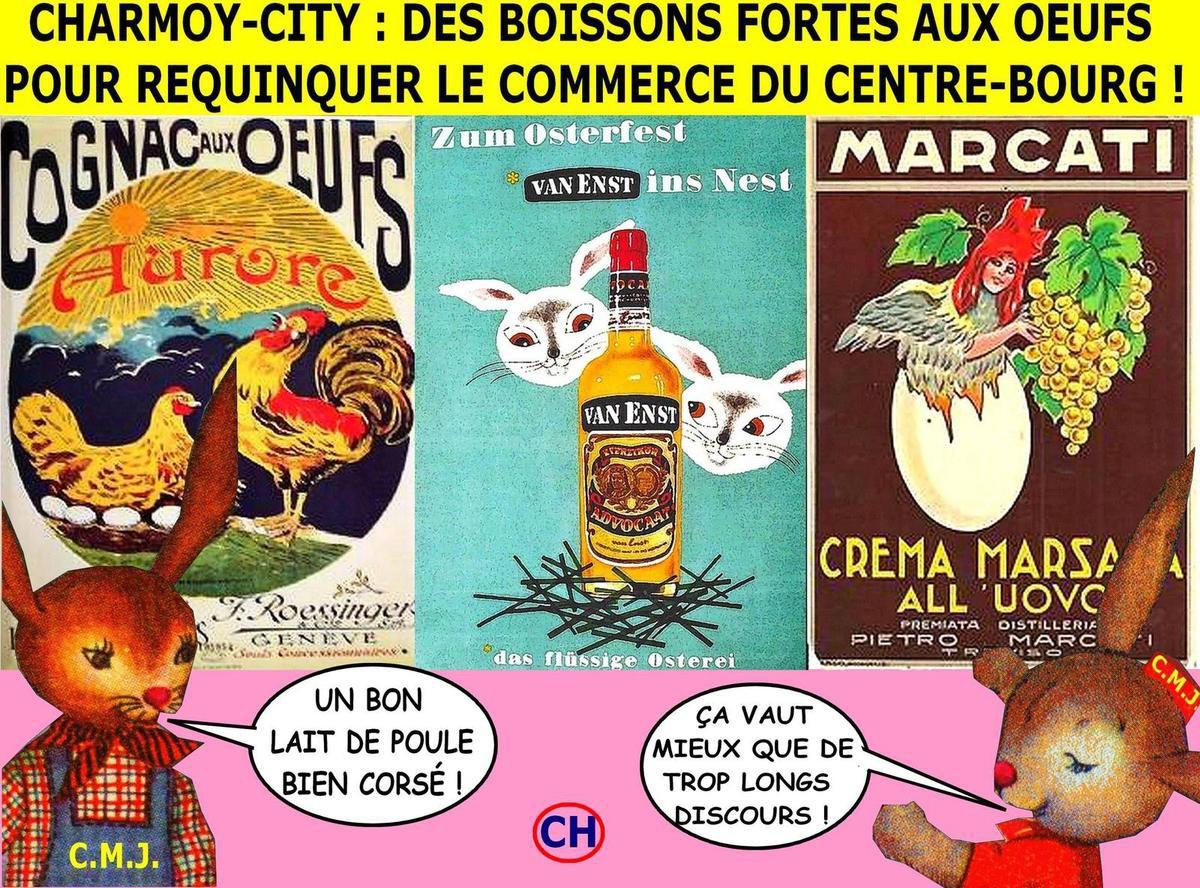 Charmoy-City, des boissons fortes aux oeufs pour requinquer le commerce du centre-bourg