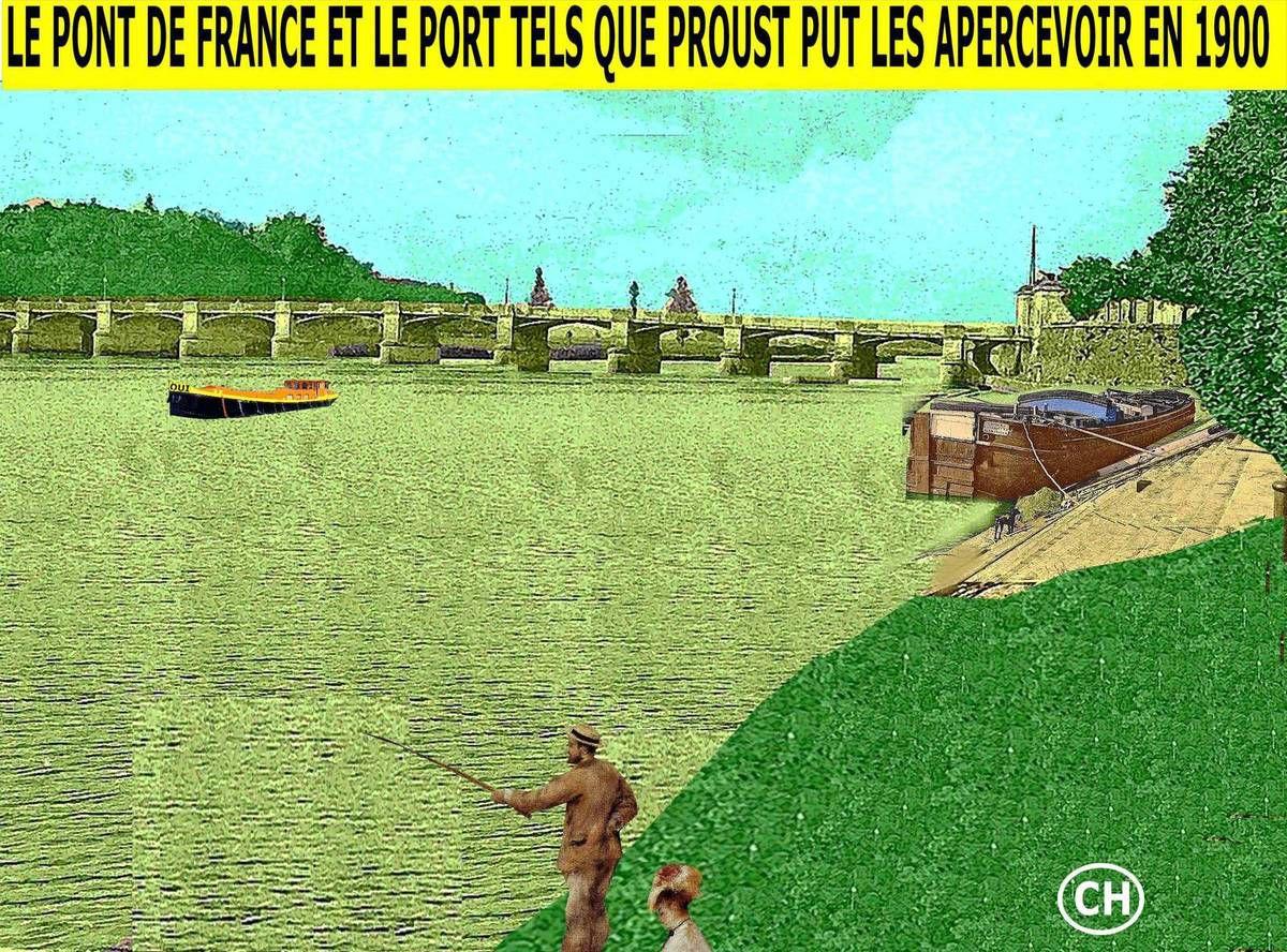 Le Pont de France et le port tels que Proust put les apercevoir en 1900