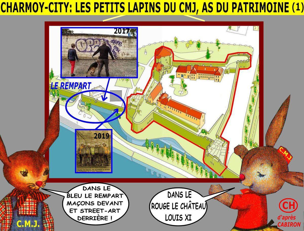 Charmoy-City, les petits lapins du CMJ as du patrimoine