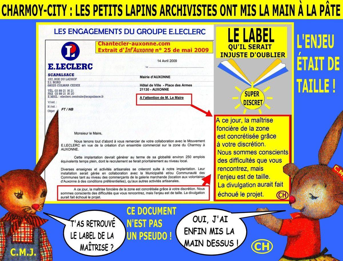 Charmoy-City, les petits lapins archivistes ont mis la main à la pâte