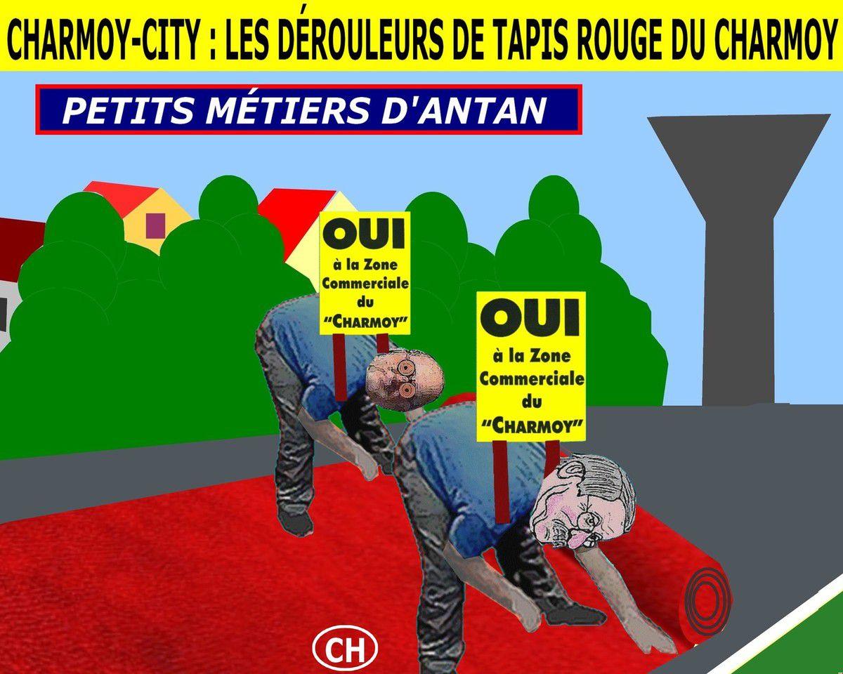 Charmoy-City, les dérouleurs de tapis rouge