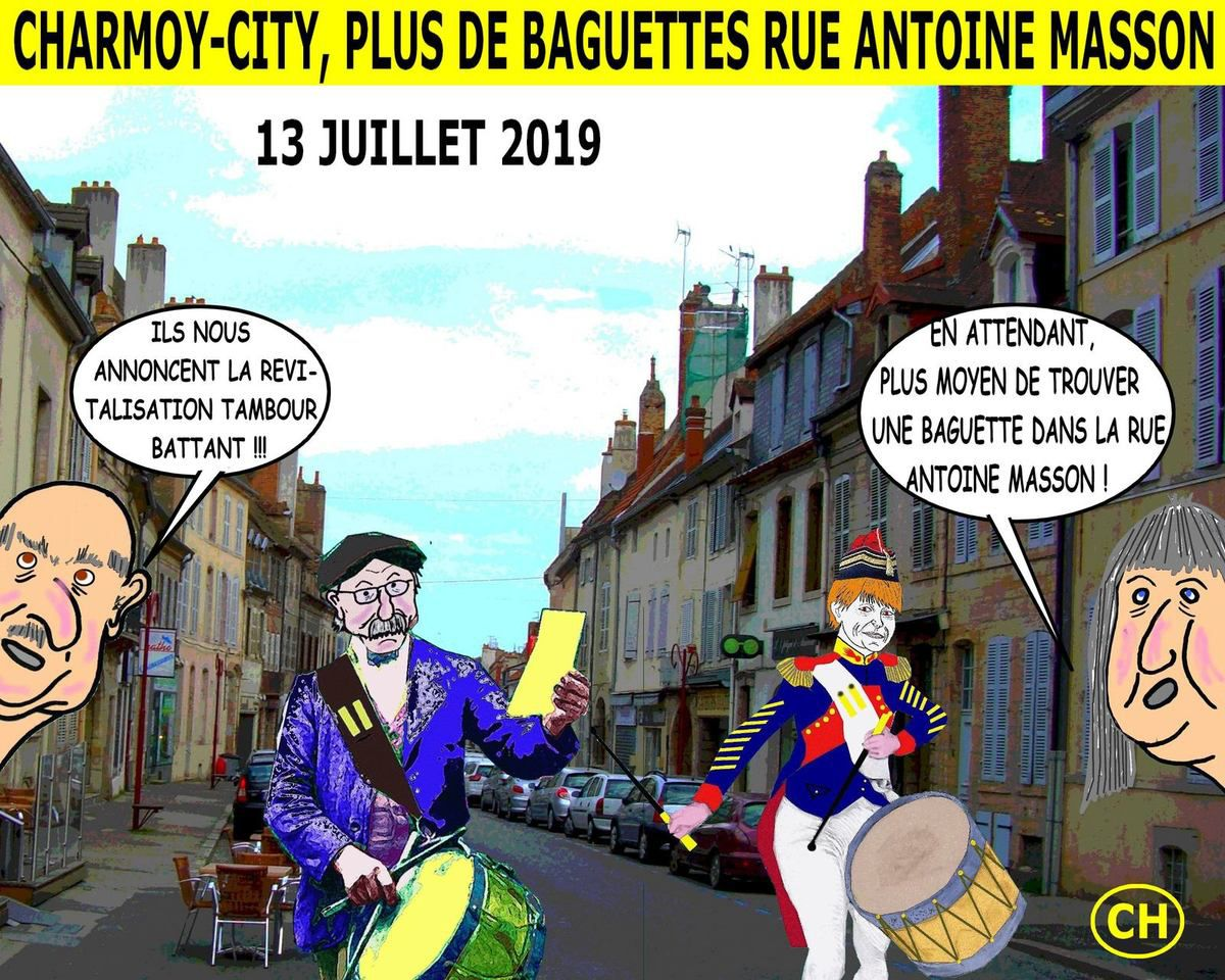 Charmoy-City, plus de baguettes rue Antoine Masson