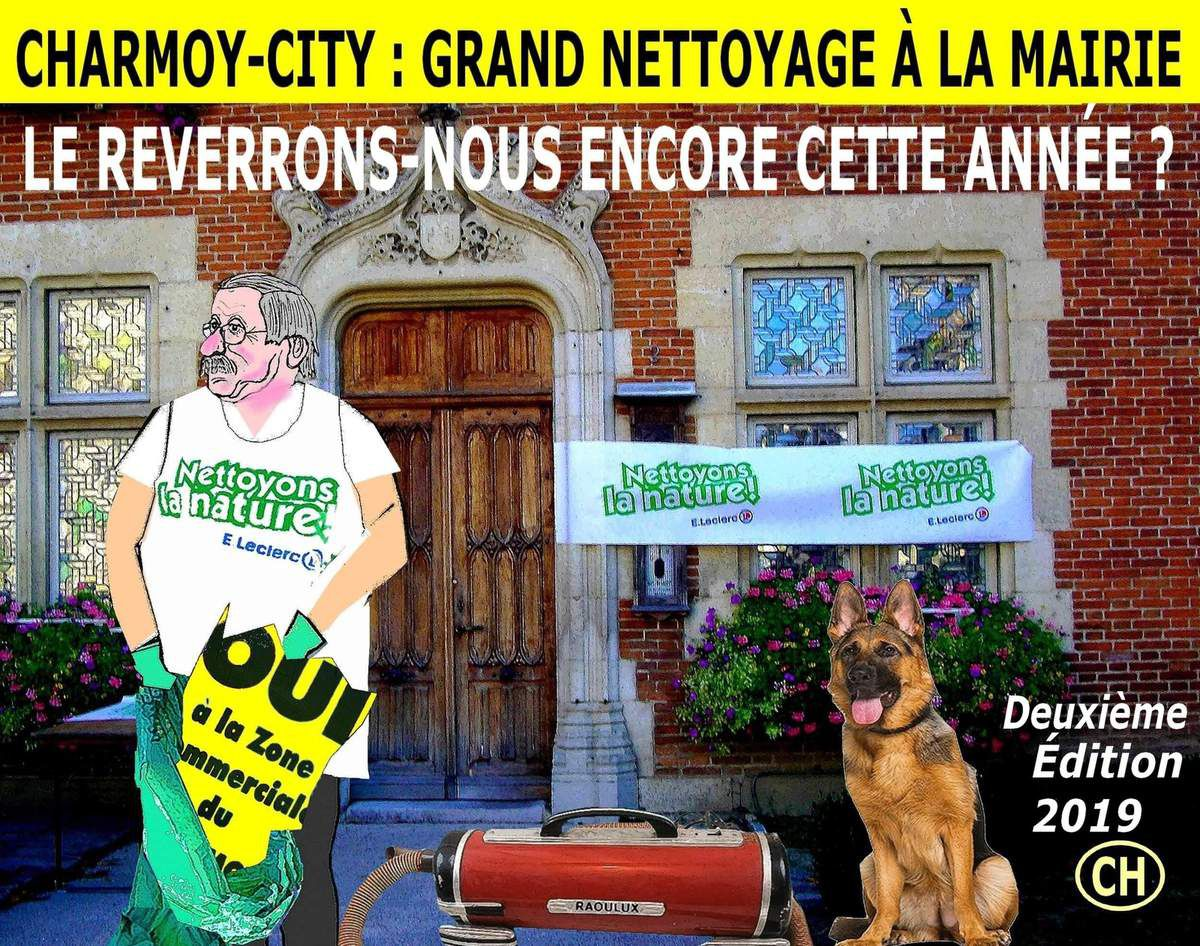 Charmoy-City, grand nettoyage à la mairie