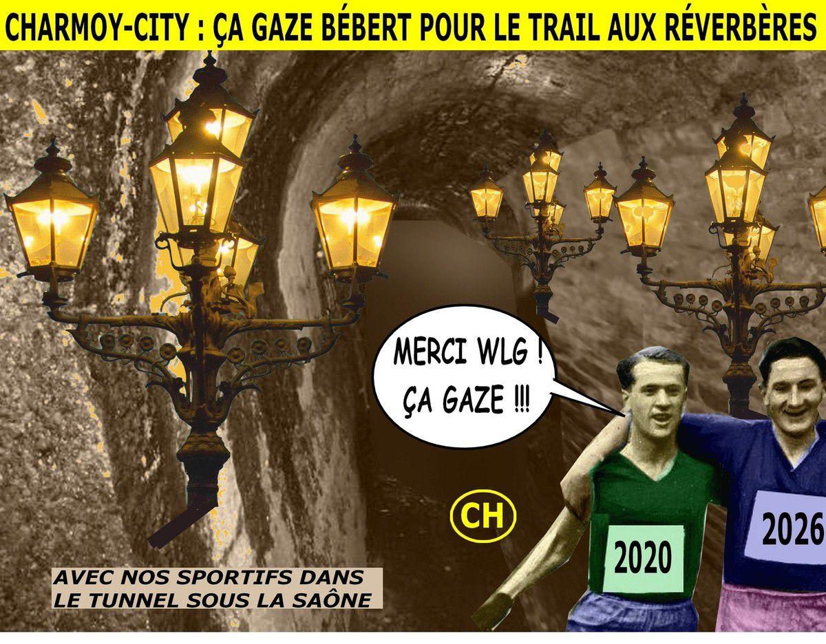 Charmoy-City, avec nos sportifs dans le tunnel sous la Saône