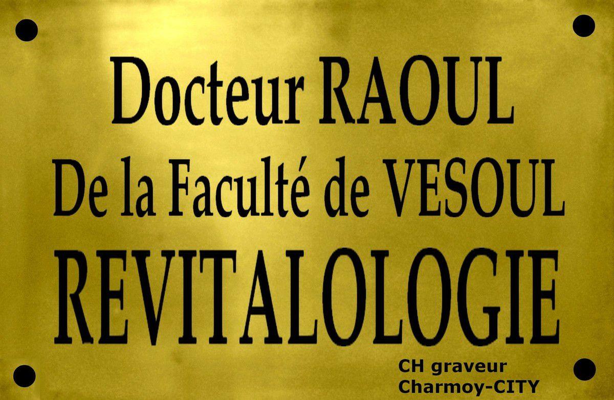 plaque docteur Raoul