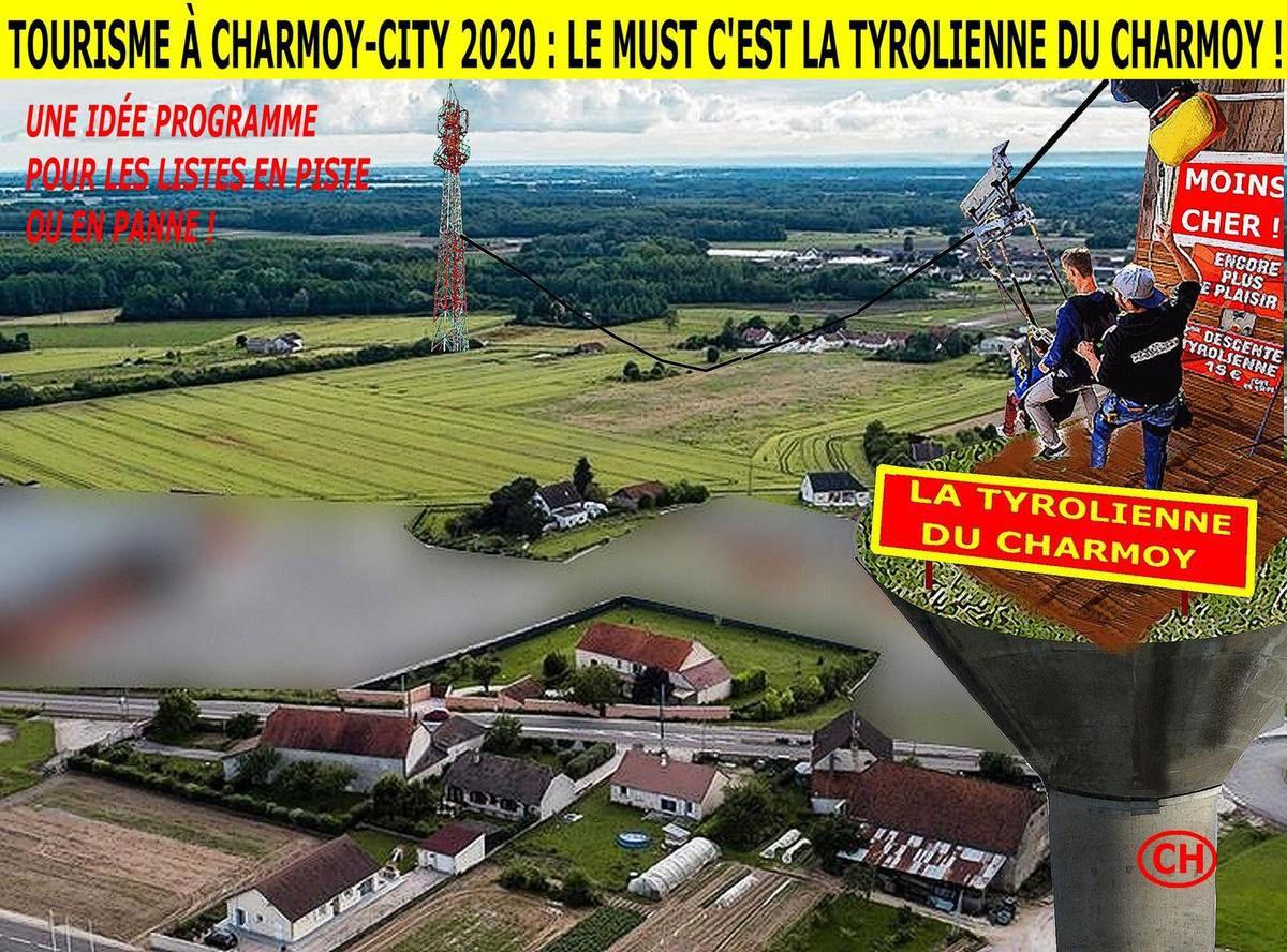 Tourisme à Charmoy-City 2020, le must c'est la tyrolienne