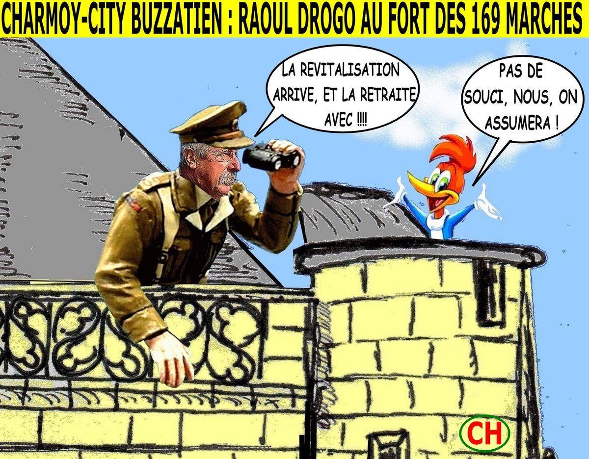 Charmoy-City buzzatien, Raoul Drogo au Fort des 169 marches