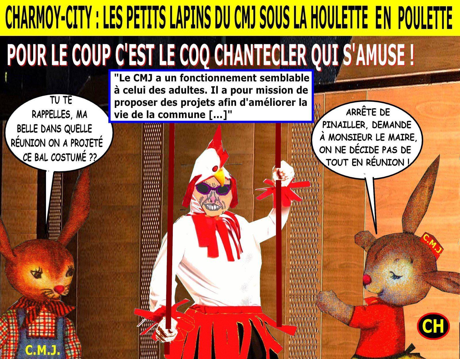 Charmoy-City, les petits lapins CMJ, sous la Houlette en poulette.jpg