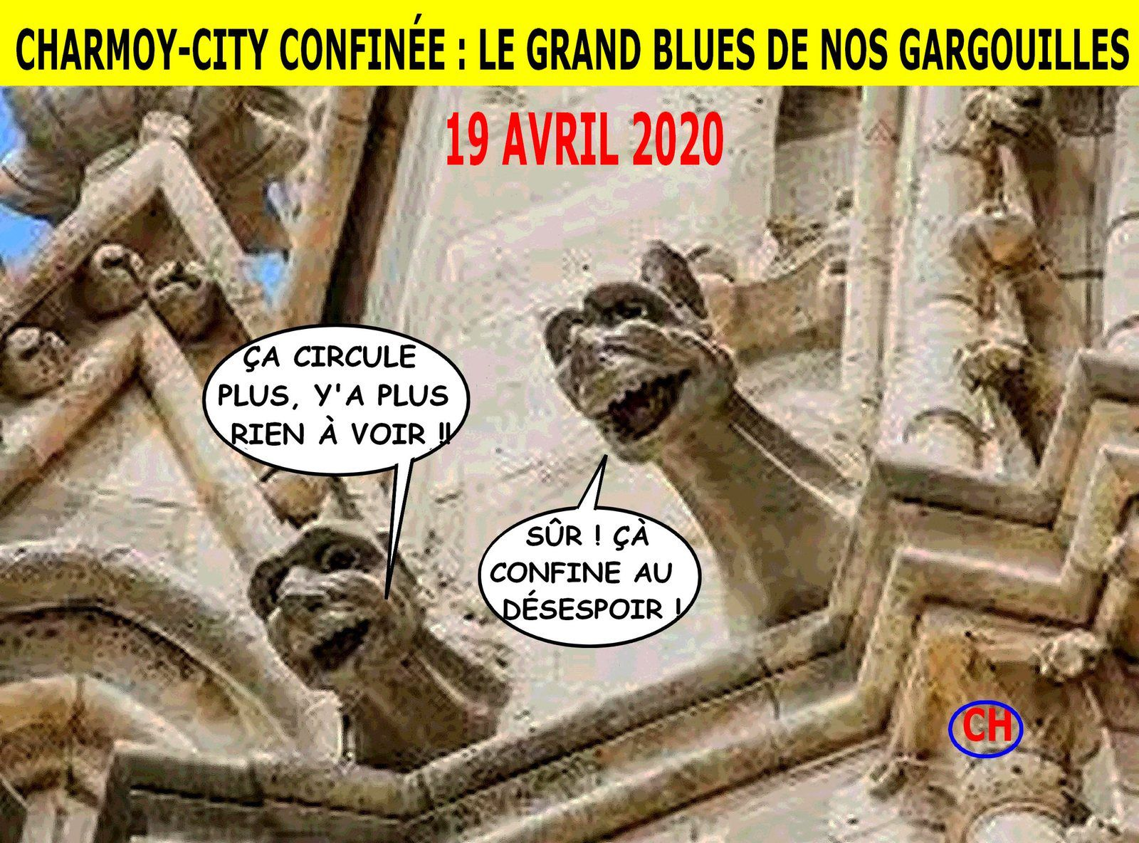 Charmoy-City confinée, le grand blues de nos gargouilles.jpg