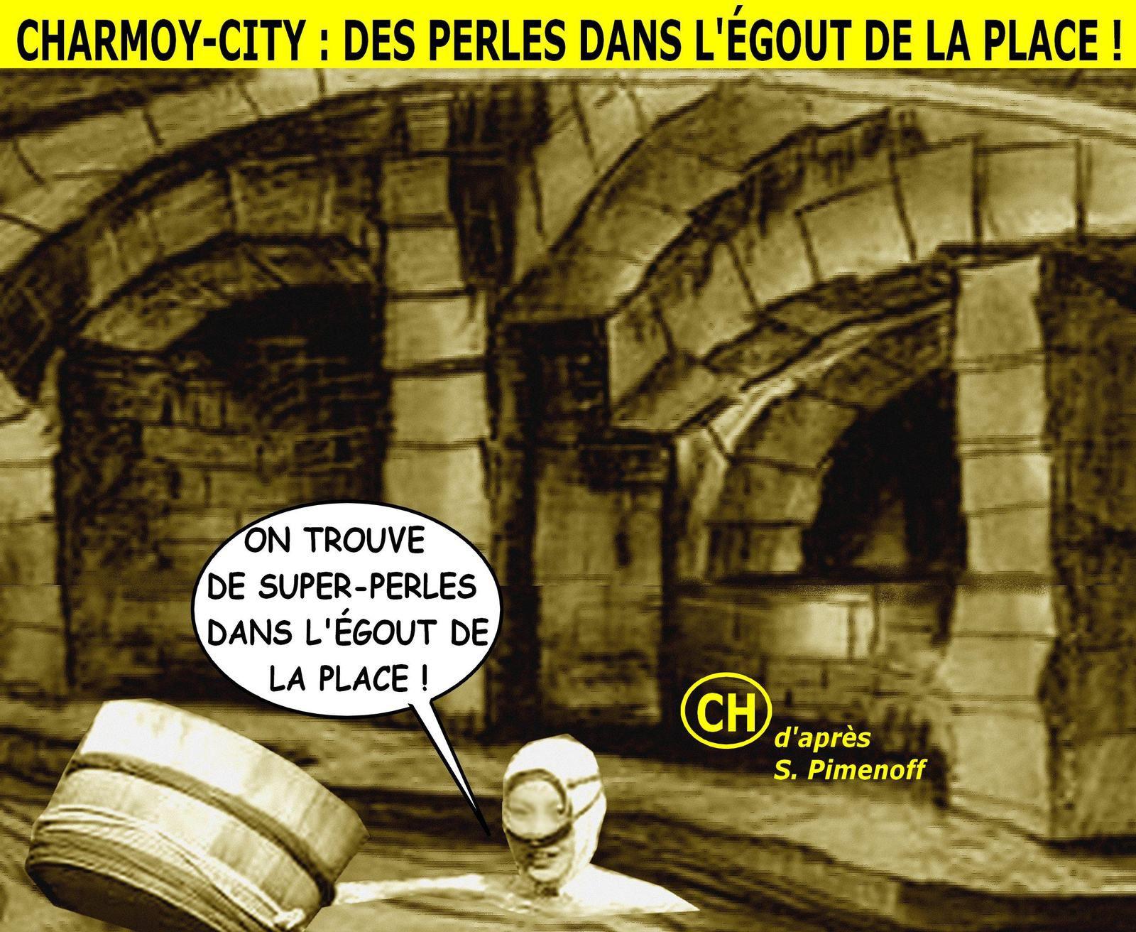 Charmoy-City, des perles dans l'égout de la place.jpg