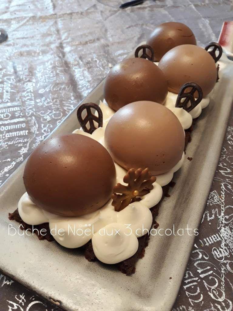 Buche de noel trois chocolat