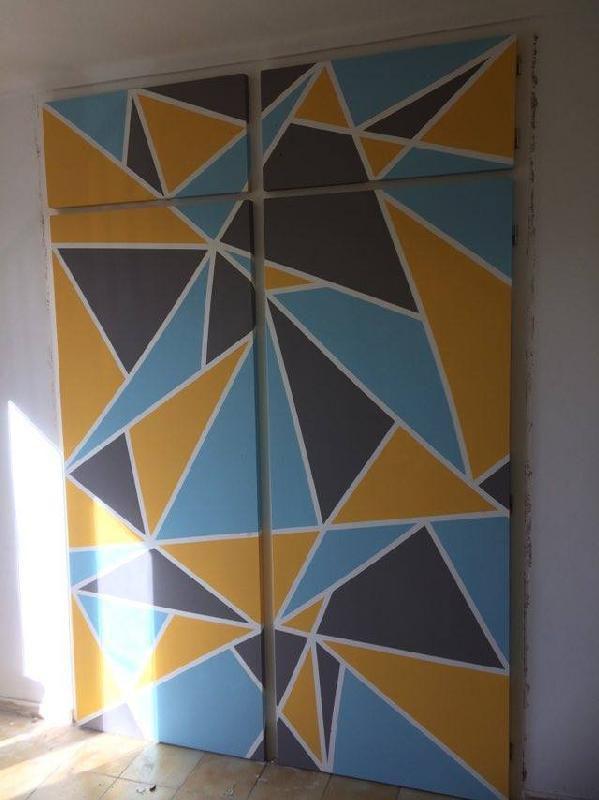 diy comment cr er un mur graphique copines mamans et femmes tr s actives. Black Bedroom Furniture Sets. Home Design Ideas