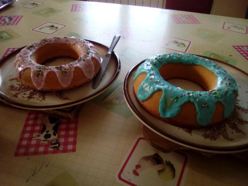 Gâteau façon donut XXL