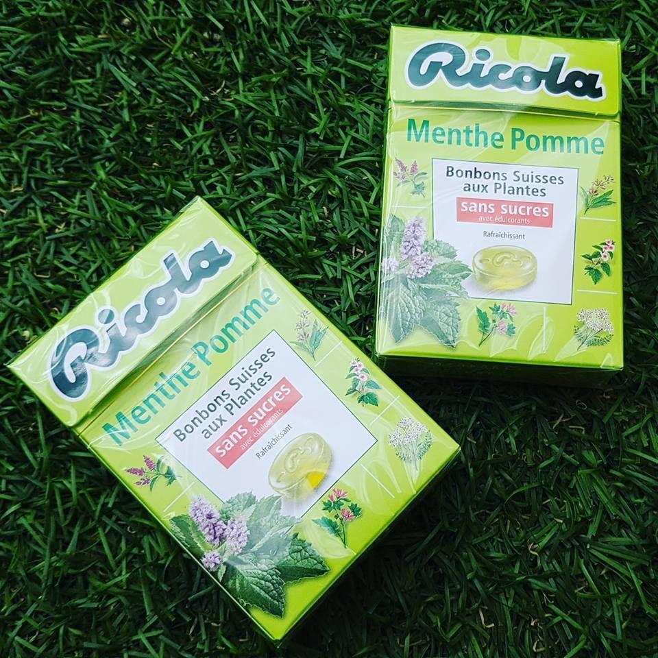 Ma découverte des bonbons Ricola Menthe - Pomme
