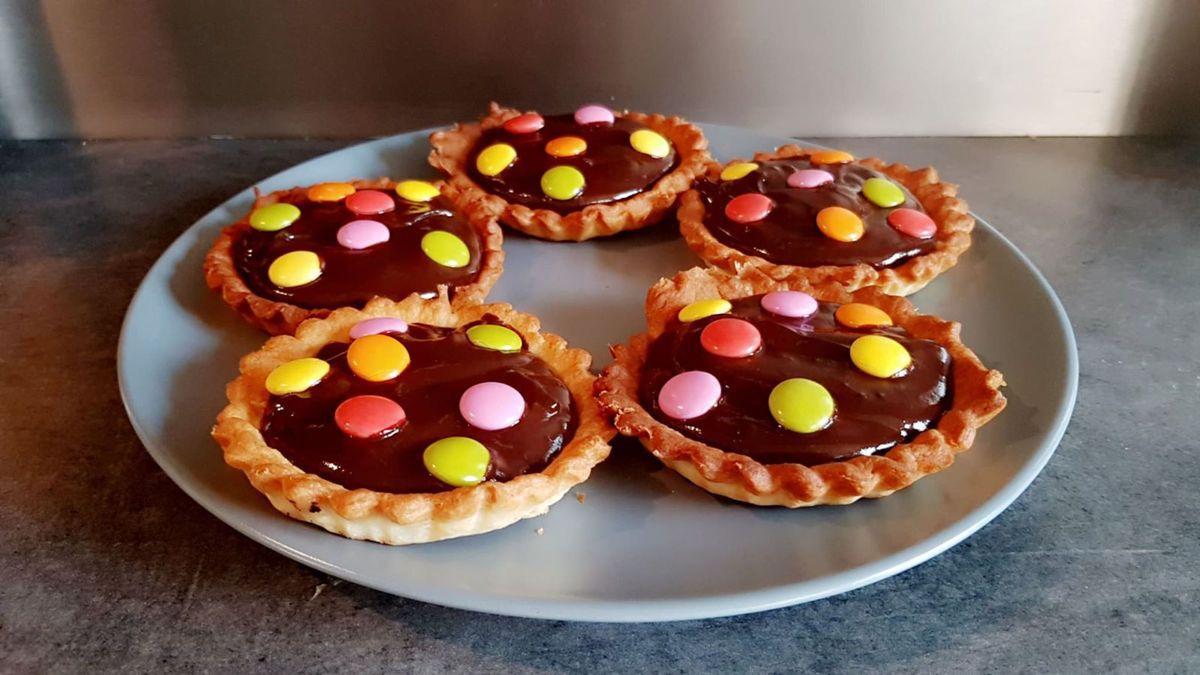 Recette Tartelette Chocolat et  Smarties