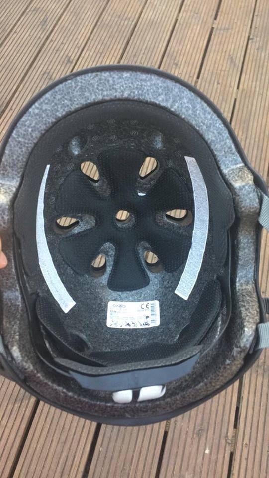 Le casque OXELO de chez Décathlon de mon fils Théo