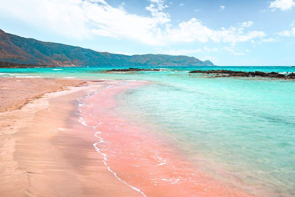 La plage d'Elafonissi en Grèce