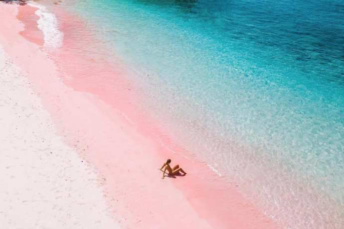 Plages de sable rose (Source Photo@sosoir)