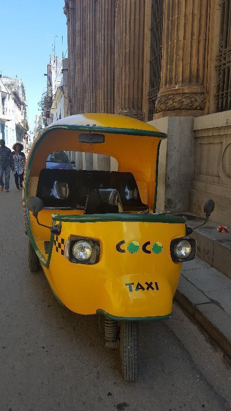 Taxi, bus, coco taxi et route que nous avons empruntée