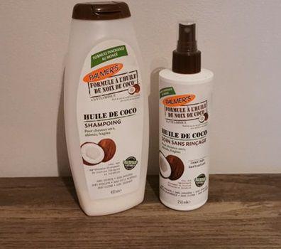 J'ai testé le shampoing et le soin à l'huile de coco de chez Palmer's.