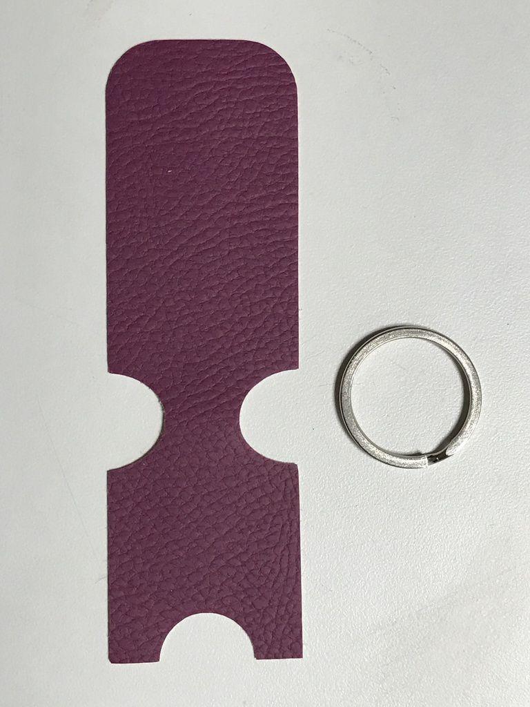 Fabriquer Porte Clé Facile porte-clés porte jeton - tuto patron couture diy - fichier