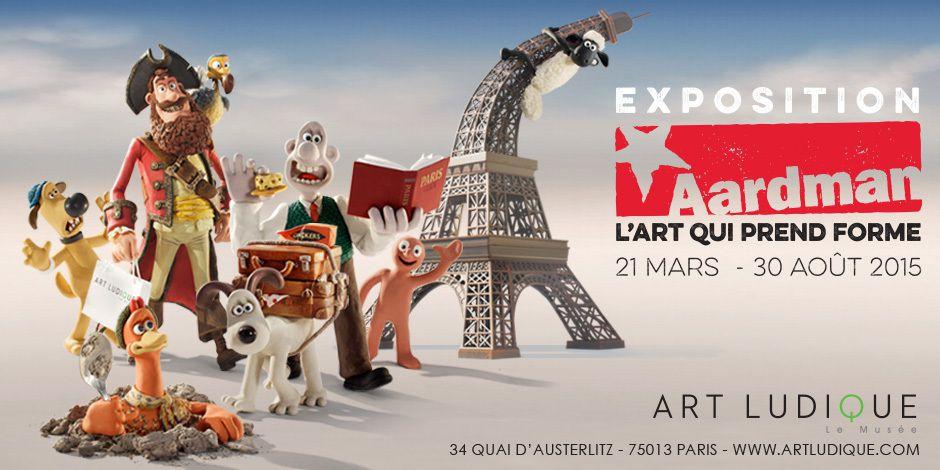 Wallace et Gromit, Chicken Run et les créations des studios Aardman à l'honneur de la prochaine exposition du musée Art Ludique du 21 Mars au 30 Aout 2015 @ArtLudique