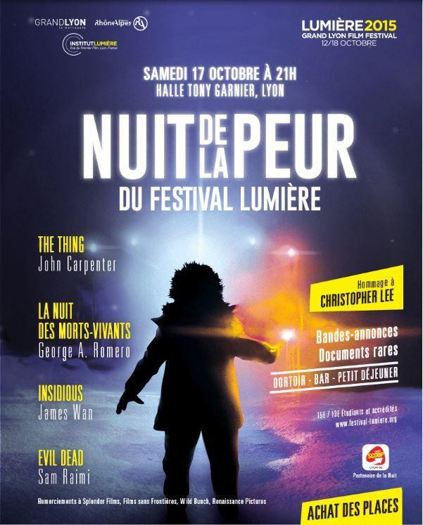 La Nuit de la Peur du Festival Lumière - le Samedi 17 octobre à la Halle Tony Garnier