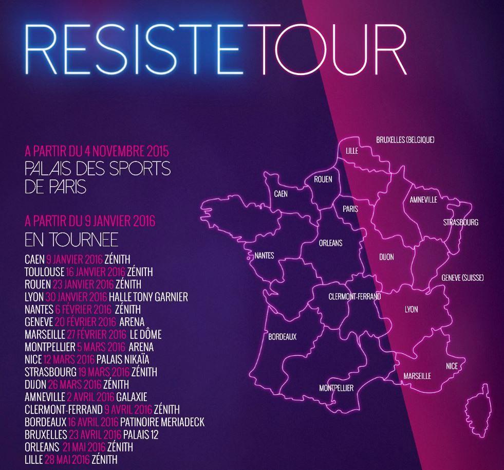 RESISTE - La Comédie Musicale événement de France Gall à partir du 4 Novembre au Palais des Sports de Paris et en tournée en 2016 #ChercheTonBonheurPartout