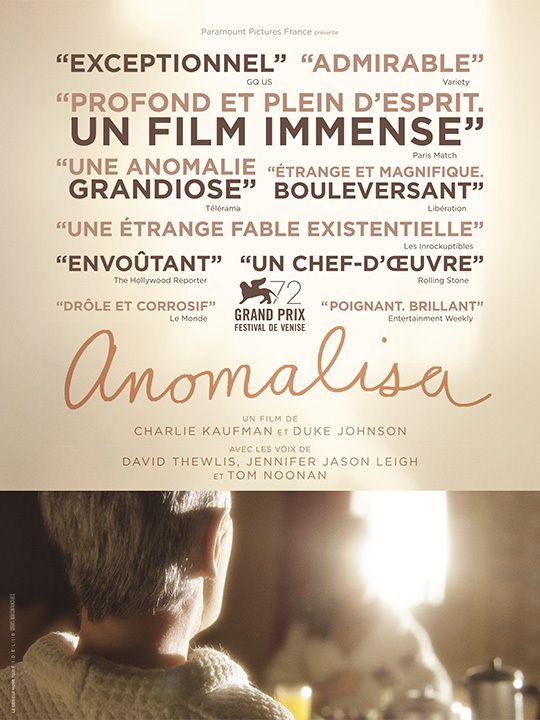 ANOMALISA par les réalisateurs Charlie Kaufman et Duke Johnson - Au cinéma le 20 Janvier 2016