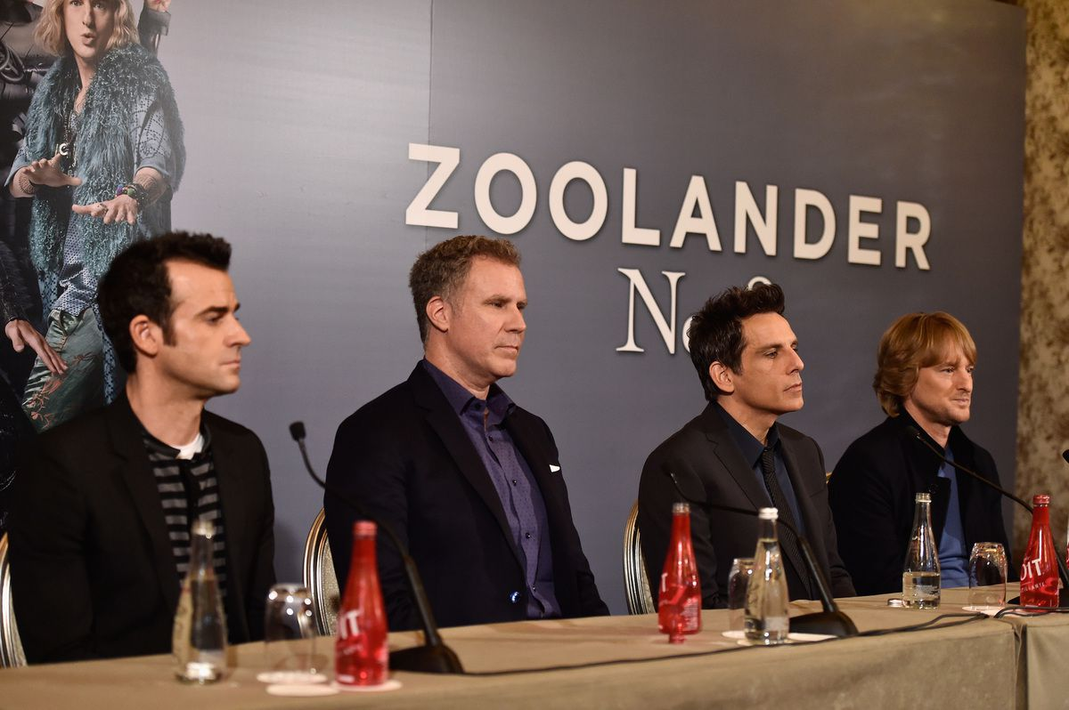"""Ferrell,Ben Stiller and Owen Wilson attend the Press Conference ahead of the Paris Fan Screening of the Paramount Pictures film """"Zoolander No. 2"""" at Hotel Plaza Athenee on January 29, 2016 in Paris, France. (Photo by Pascal Le Segretain/Getty Images For Paramount)"""