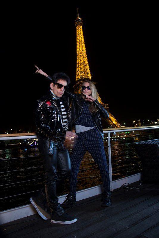 """photos inédites du nouveau couple qui fait sensation, """"Der-vigne"""" : Derek Zoolander et Cara Delevingne."""