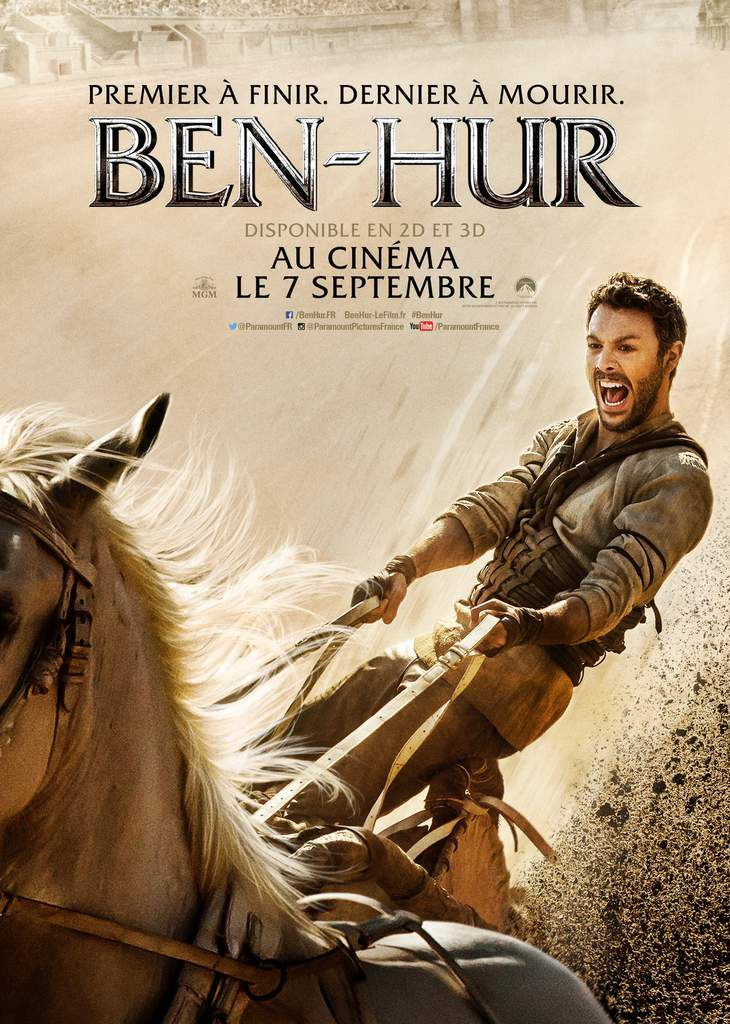 BEN-HUR avec Jack Huston, Toby Kebbell, Morgan Freeman au Cinéma le 7 septembre 2016  #Benhur