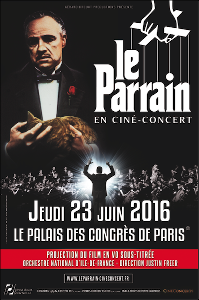LE PARRAIN en Ciné-Concert - Le 23 juin 2016 au Palais des Congrès de Paris