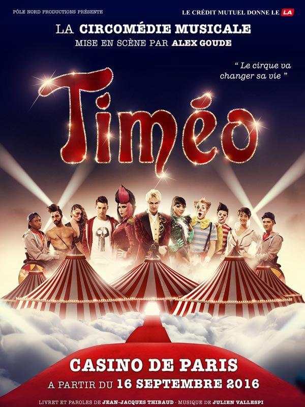 Timéo - le clip du Rêve Interdit est sorti ! La circomédie musicale à partir du 16 septembre au Casino de Paris