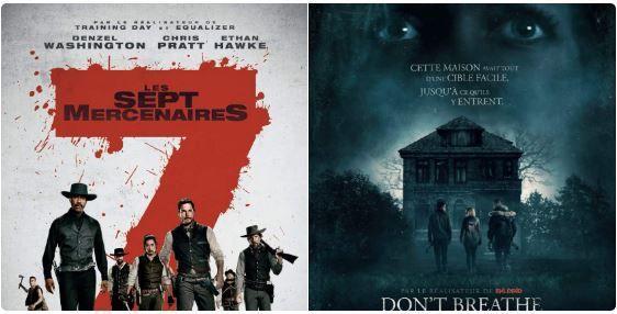 """Soirée Ciné Double Projections """"Les 7 Mercenaires"""" et """"Don't breathe"""" On vous dit tout...Nos avis sur les films"""