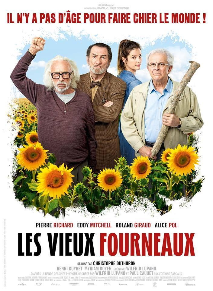 LES VIEUX FOURNEAUX avec Pierre Richard, Eddy Mitchell, Roland Giraud au Cinéma le 22 Aout