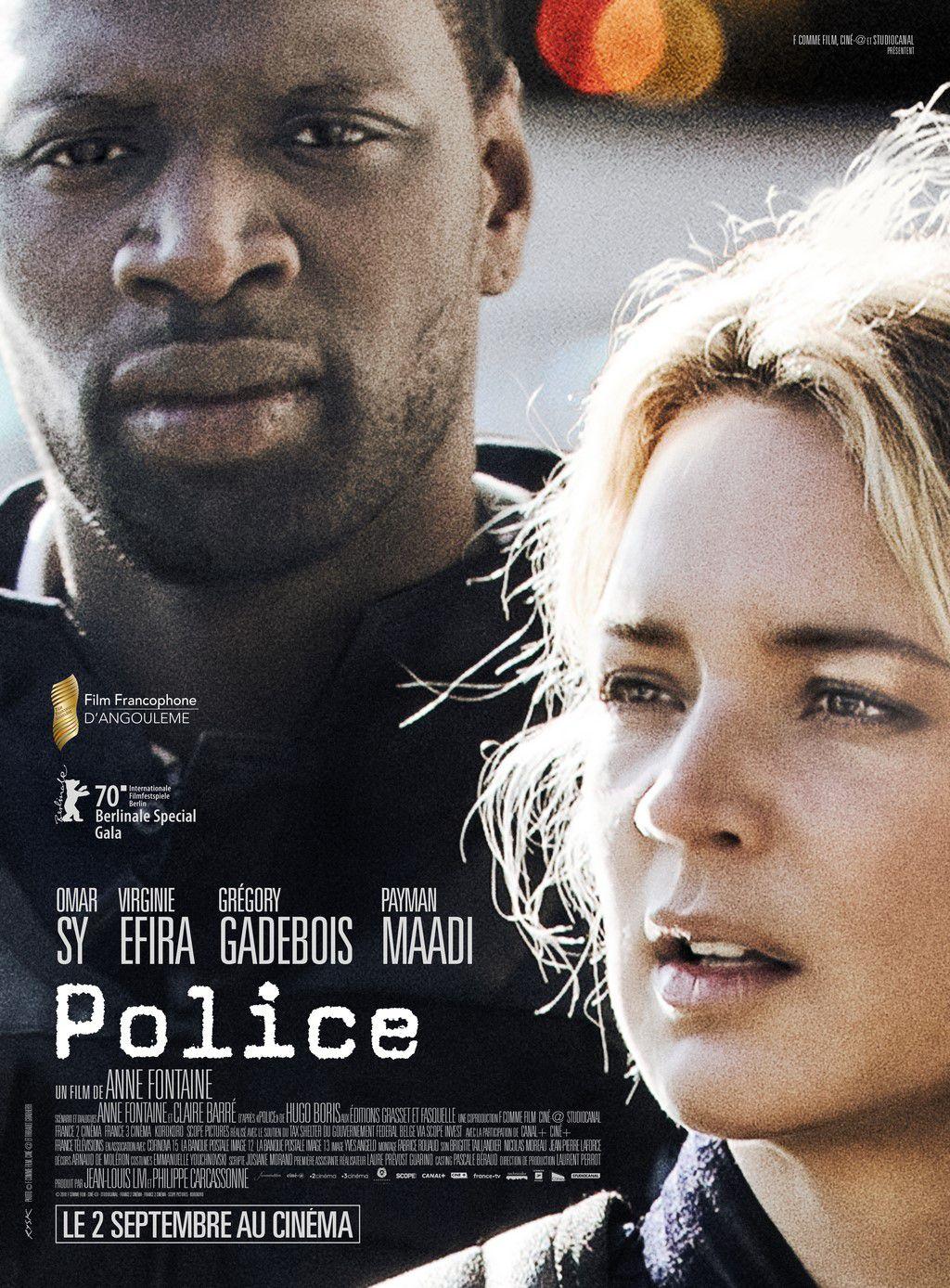 POLICE avecVirginie Efira, Omar Sy, Grégory Gadebois et Payman Maadi au cinéma le 2 septembre 2020