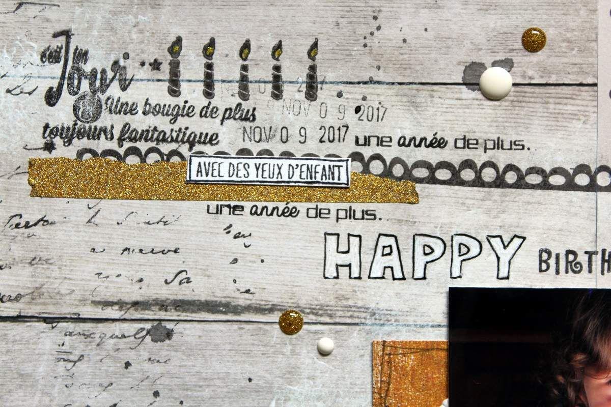 Happy Birthday / Défi Lift page Scrap&Co / Inspi MIS