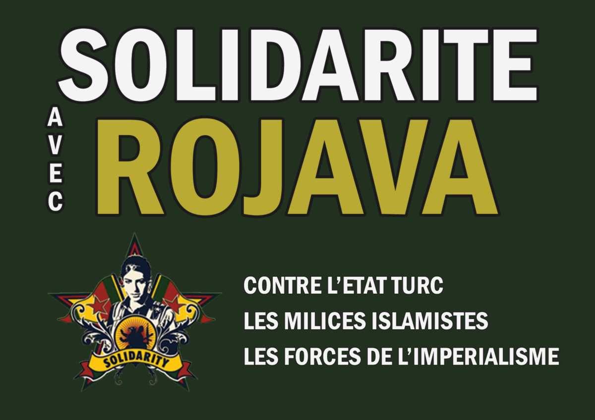 KURDISTAN DE SYRIE: MOBILISONS-NOUS POUR STOPPER L'AGRESSION TURQUE