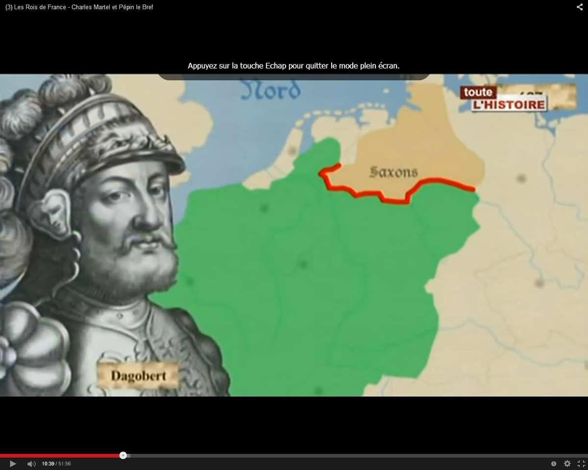 Incursions de Saxons à la frontière nord du royaume en 627
