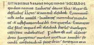 Carolingian Minuscule, minuscule caroline dans un parchemin du Xe siècle