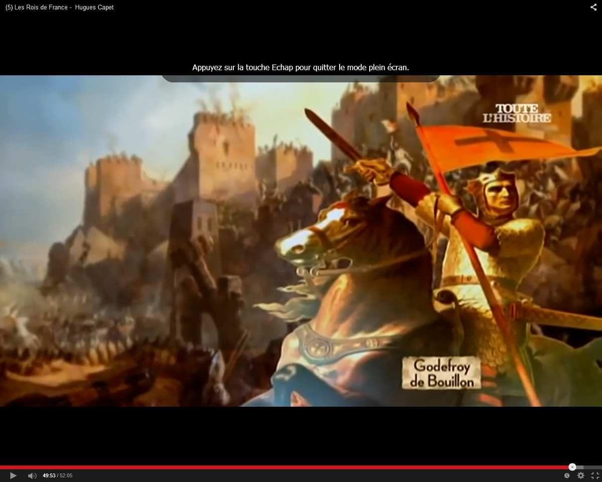 Godefroy de Bouillon à Jérusalem en 1099
