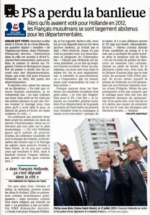 """Le PS perd la banlieue, les immigrés votent UMP, le """"mouvement dextrogyre"""""""