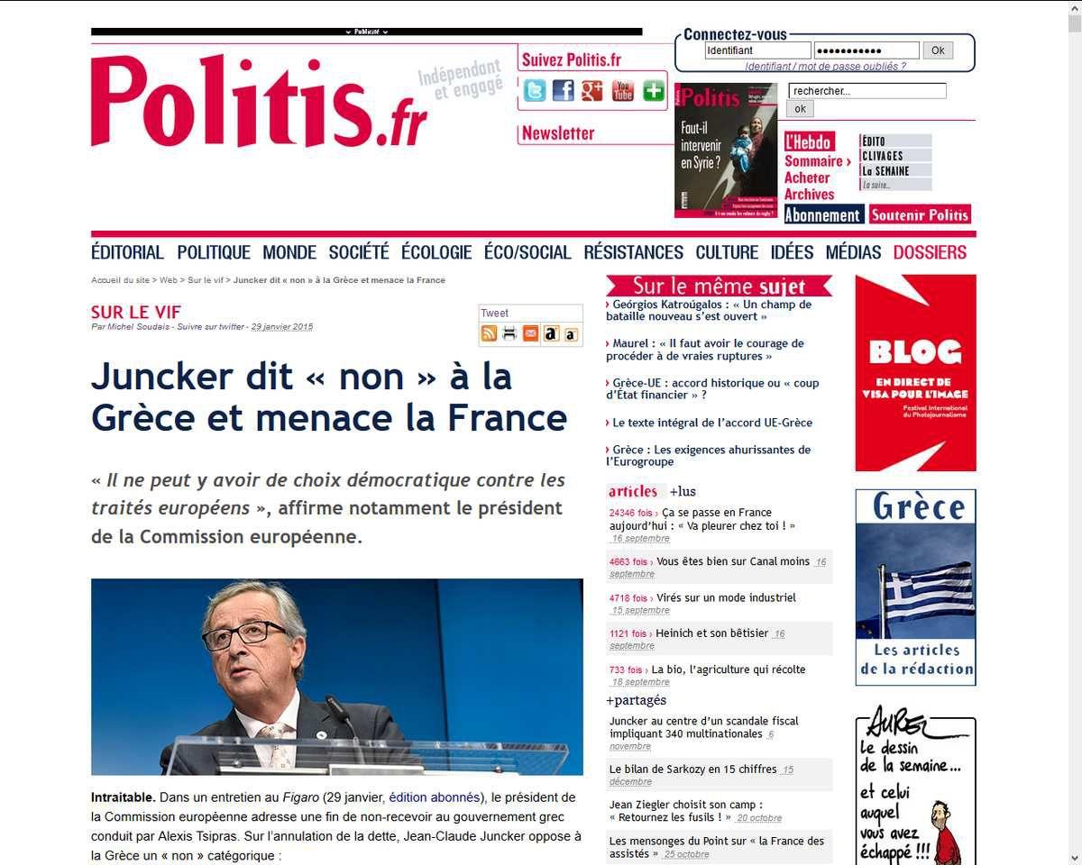 Source: http://www.politis.fr/Juncker-dit-non-a-la-Grece-et,29890.html