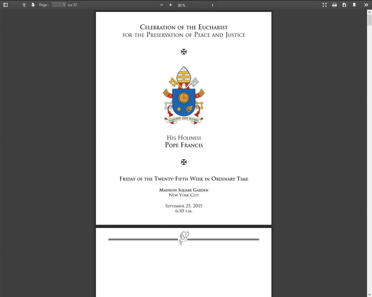 Source: http://www.usccb.org/about/leadership/holy-see/francis/papal-visit-2015/upload/friday-9-25-mass-madison-square-garden.pdf
