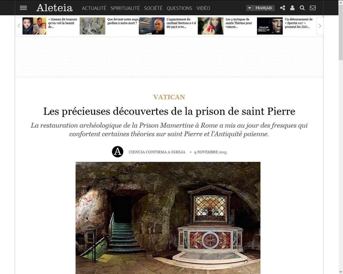Les précieuses découvertes de la prison de saint Pierre
