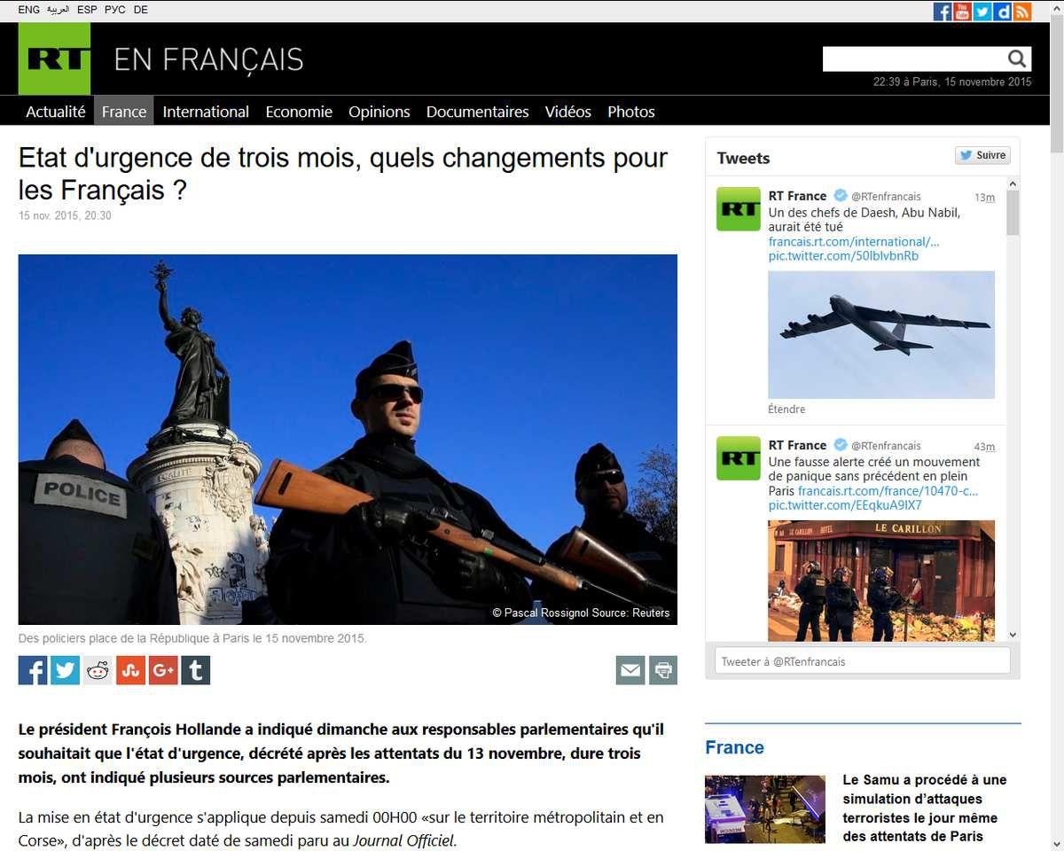 Etat d'urgence de trois mois, quels changements pour les Français ?