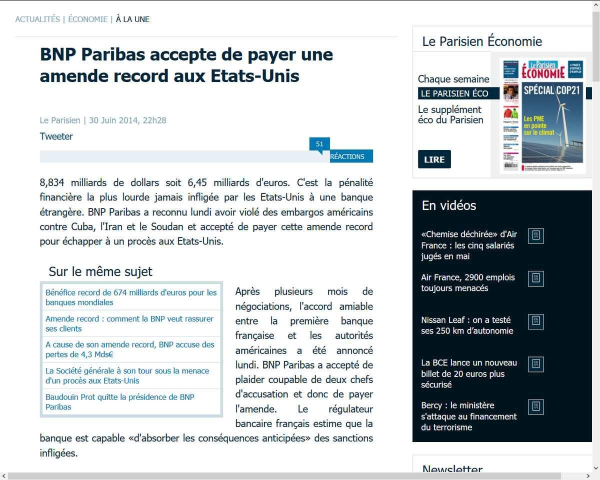 http://www.leparisien.fr/economie/bnp-paribas-le-montant-de-l-amende-fixe-ce-lundi-soir-30-06-2014-3964657.php